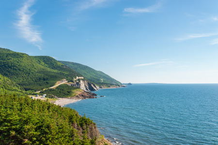 Coastal Scene on the Cabot Trail in Cape Breton, Nova Scotia, Canada