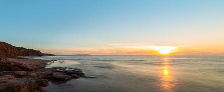 gables: Panorama of ocean beach  Green Gables Shore, Prince Edward Island , Canada  Stock Photo