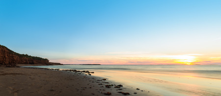 gables: Panorama of ocean beach at sunset  Green Gables Shore, Prince Edward Island , Canada