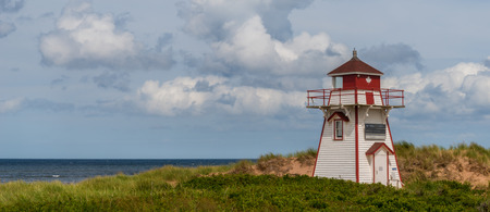 Panorama of Covehead Lighthouse in Stanhope  Prince Edward Island, Canada  photo