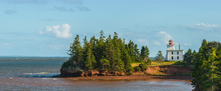 Panorama of Blockhouse Point Lighthouse   Prince Edward Island, Canada