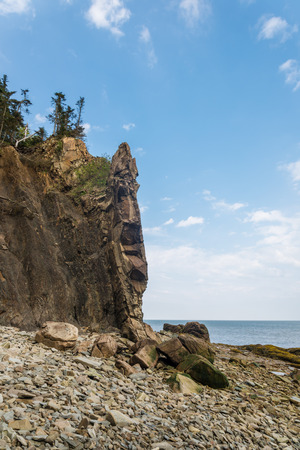 enrage: Cliifs of Cape Enrage along the Bay of Fundy (Cape Enrage, New Brunswick, Canada) Stock Photo