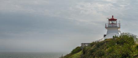 enrage: Panorama of lighthouse (Cape Enrage, New Brunswick, Canada)