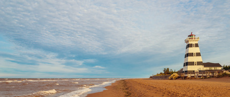 navigation aid: Panorama of West Point Lighthouse (North Cape Coastal Drive, Prince Edward Island, Canada)