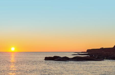 navigation aid: Ocean beach in the morning  Point East Coastal Drive, Prince Edward Island, Canada