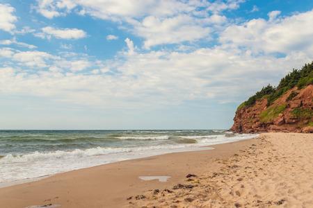 navigation aid: Beach at Basin Head Point East Coastal Drive, Prince Edward Island, Canada Stock Photo