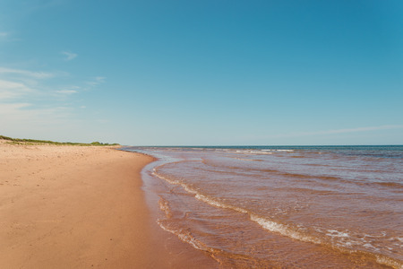 navigation aid: Beach at St. Peters Bay on the northern shore Point East Coastal Drive, Prince Edward Island, Canada