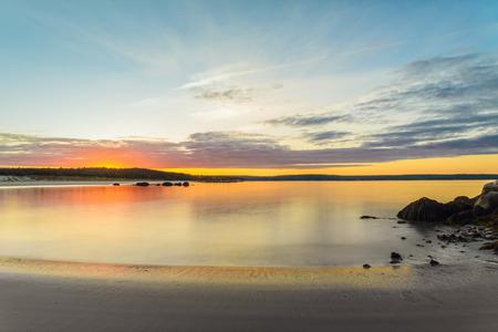 scotia: Carters Beach at Sunset using long shutter speed (Nova Scotia, Canada)
