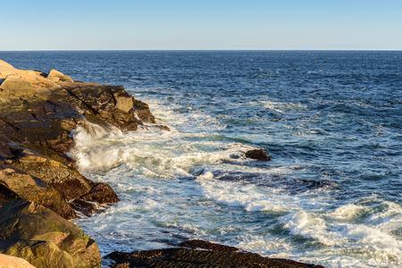 cove: Peggys Cove shoreline (Nova Scotia, Canada) Stock Photo