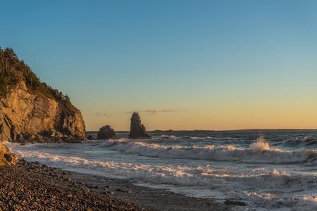 nova scotia: Ocean shore (Cabot Trail, Cape Breton, Nova Scotia, Canada)