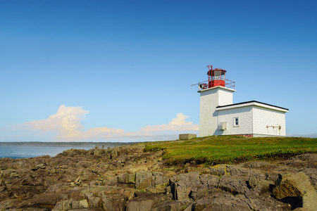 Northern Light & Alarm Lighthouse (Brier Island, Nova Scotia, Canada) Stock Photo