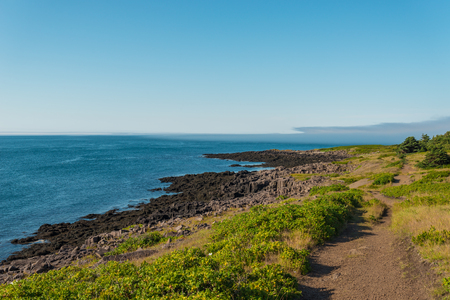 Brier Island Coastline (Nova Scotia, Canada) Stock Photo