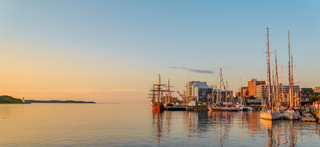Panoramic view of Halifax in the Early Morning Stock Photo