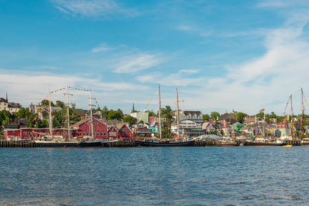 View of the famous harbor front of Lunenburg (During the Nova Scotia Tall Ship Festival 2017)