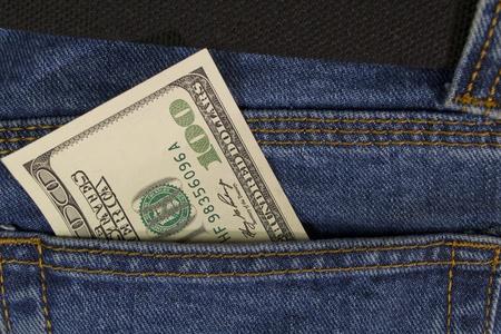 hundred dollars in  pocket jeans