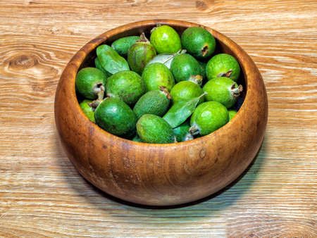 Feijoa fruits (known yet as acca sellowiana)