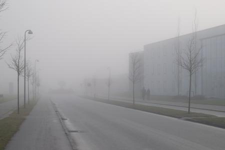 A foggy day in Denmark, Viborg Stock Photo