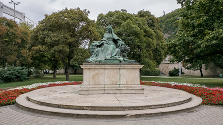 Statue of Queen Elisabeth in Budapest, Hungary