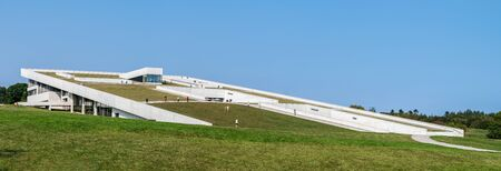 Moesgaard Museum, DENMARK -  SEPTEMBER 15, 2016: Panoramic view of Moesgaard Museum, a Danish regional museum dedicated to archaeology and ethnography.