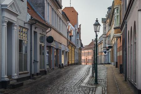 Beautiful street in Viborg, Denmark