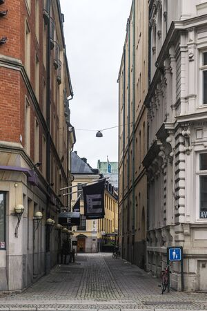 MALMO, SWEDEN - 22 OCTOBER 2016: Different types of architectural structures in the center of Malmo, Sweden.