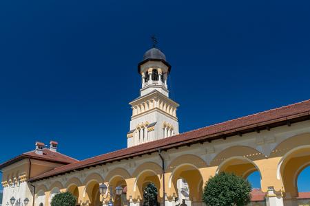 Reunification Cathedral inside the Citadel Alba-Carolina in Alba Iulia, Romania. 스톡 콘텐츠