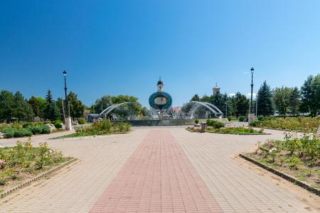 Beautiful park on a summer sunny day in Alba Iulia, Romania.