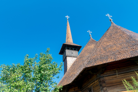 Memorial Church Mihai Viteazul on a sunny summer day in Alba Iulia, Romania.