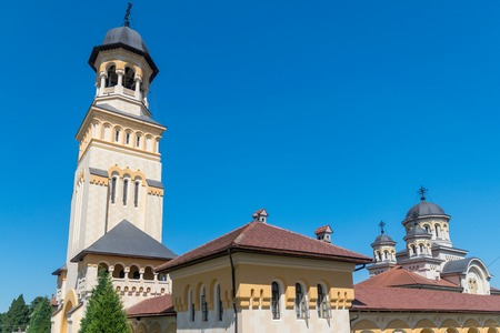 Reunification Cathedral on a summer sunny day in Alba Iulia, Romania