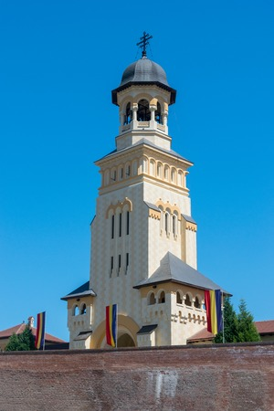 Reunification Cathedral on a summer sunny day in Alba Iulia, Romania.