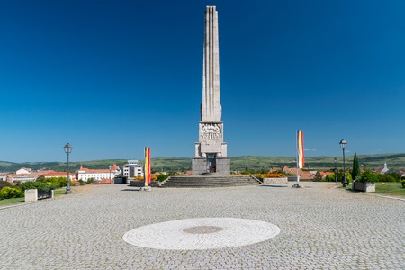 Horea, Closca and Crisan Obelisk in the Citadel Alba-Carolina in Alba Iulia, Romania.