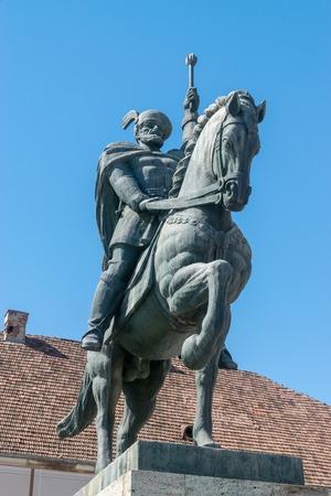 Mihai Viteazul Statue inside the Citadel Alba-Carolina in Alba Iulia, Romania.