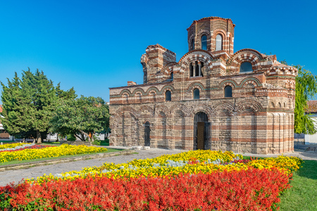 Church of Christ Pantocrator in Nessebar ancient city. Banque d'images