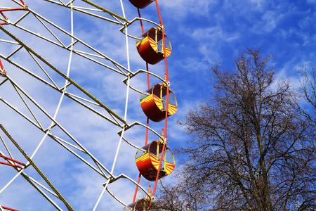 Ferris wheel in the park Stock Photo