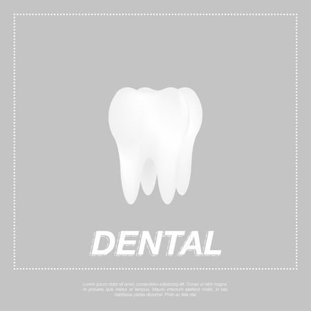 Tooth icon flat design style. Tooth silhouette. Vector illustration EPS10