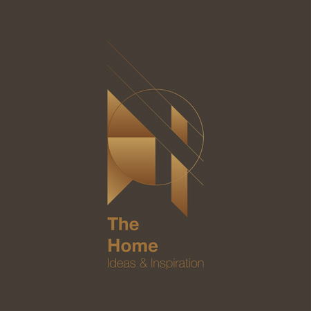 housing lot: The Home and interior Logo design. Vector logo template. Home ideas and inspiration
