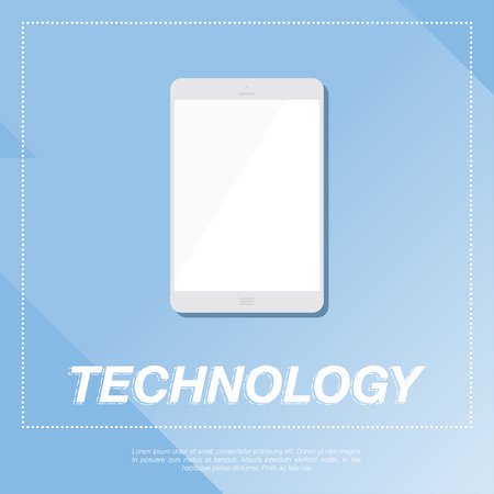 palmtop: Tablet PC Flat vector illustration