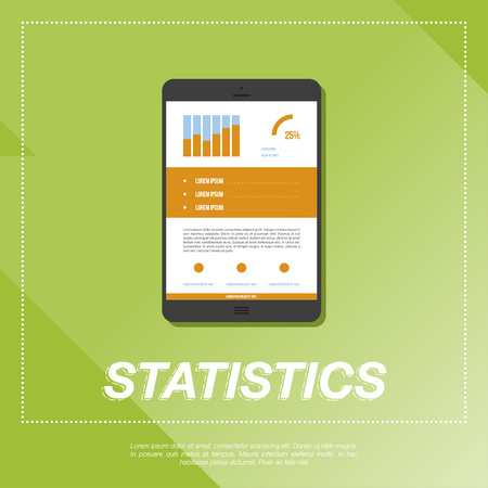 business graphics: Business vector graphics and statistics. Illustration