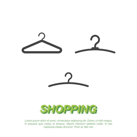 hangers: Hangers on a white background. Flat vector illustration EPS 10.