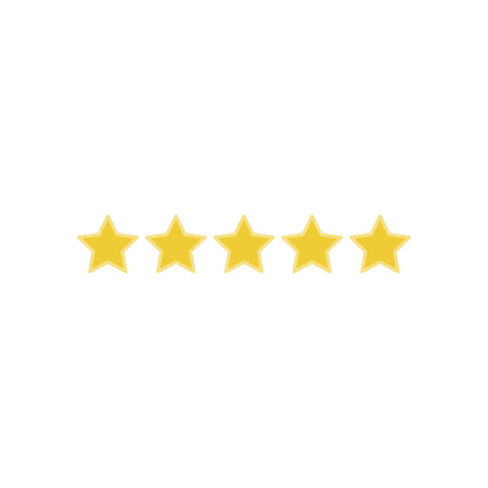 Icon 5 star rating. Flat vector illustration EPS 10.