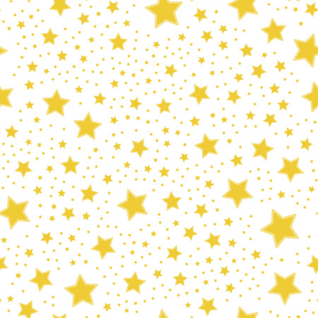 Yellow stars. Vector seamless pattern flat illustration EPS 10