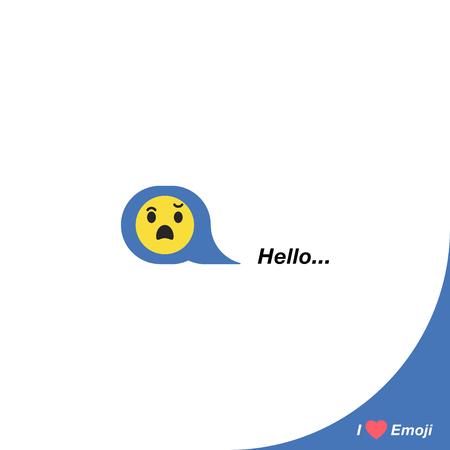 Rire Smiley Vert Avec Une Barbe Comme Icone Sociale Bouton Pour Exprimer Des Emoji Sociaux Illustration Vectorielle Plane Eps 10 Clip Art Libres De Droits Vecteurs Et Illustration Image 79819247