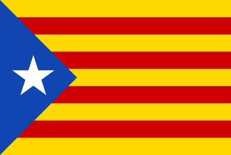 Abstract flag Catalonia on white background. Ilustrace