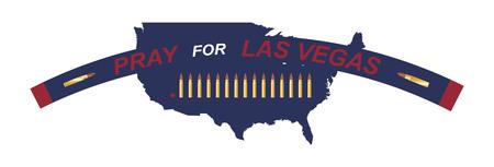ラスベガス撮影します。テロ、死者の記憶の概念。米国のマップの背景に箇条書き。