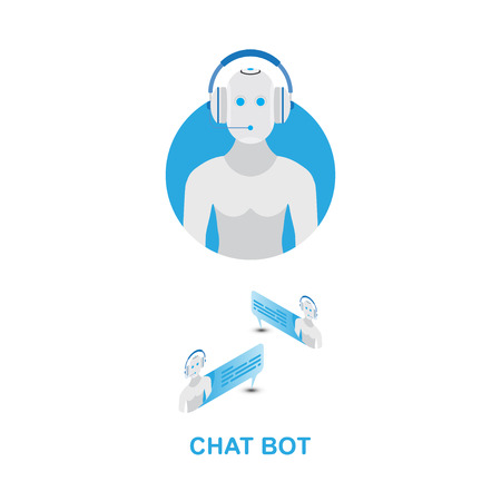 Chat bot icon for social networking.
