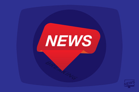 Breaking News template title on blue background for screen TV channel.