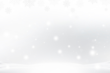Christmas and New Year background with snowflakes and light effects on a blue background. Flat vector illustration EPS10. Ilustração