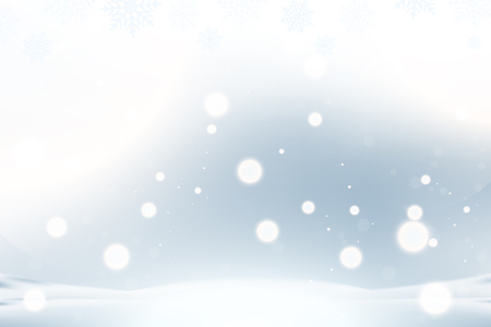 Boże Narodzenie i nowy rok tło z płatki śniegu i efekty świetlne na niebieskim tle. Płaskie wektor ilustracja Eps10.