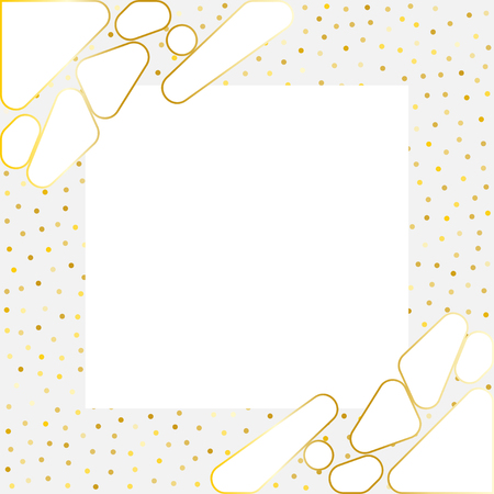 Luxury template with gold elements and round dots. Template for Invitation and posters