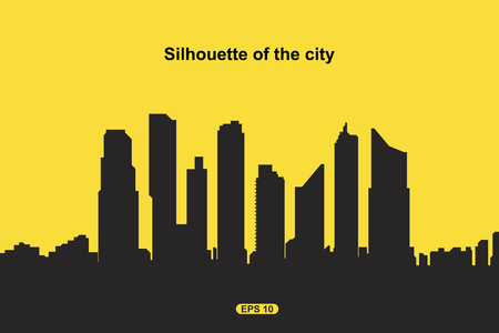 The silhouette city. Flat vector illustration EPS10